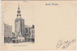 """23524g EGLISE Du SEMINAIRE - """"CAFE"""" - """"DROGUERIE""""-  Saint-Trond - 1899 - Sint-Truiden"""