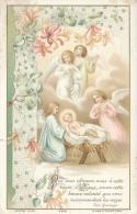 Image Pieuse Bouasse Jeune - Chromo - Jésus Et Les Anges Dans La Crèche - Images Religieuses