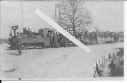 Romagne Sous Montfaucon Argonne Meuse 1916 L´argonnenbanh Decauville Voie Réduite Soldats Du I.R 92 1 Photo 14-18 Ww1 Wk - War, Military