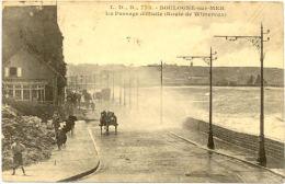 62 / CPA A - Boulogne Sur Mer - Un Passage Difficile (Route De Wimereux) - Boulogne Sur Mer