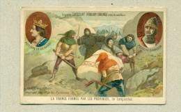 Chromo Ch. Poulain Orange -Philippe III Le Hardi -Pedro III D'Aragon -La France Formée Par Les Provinces -Texte Au Verso - Poulain