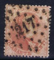 Belgium: 1863  OBP Nr 16  Used / Obl
