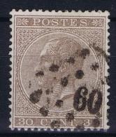 Belgium: 1865  OBP Nr19  Used   Obl - 1865-1866 Profile Left