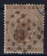 Belgium: 1865  OBP Nr19  Used   Obl - 1865-1866 Linksprofil