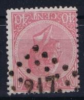 Belgium: 1865  OBP Nr 20  Used   Obl - 1865-1866 Linksprofil