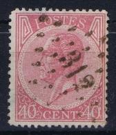 Belgium: 1865  OBP Nr 20  Used   Obl - 1865-1866 Profile Left