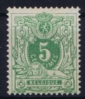 Belgium:   OBP Nr 48 MH/* - 1869-1888 Lying Lion