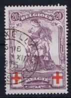 Belgium:   OBP Nr 128 Used Obl - 1914-1915 Croix-Rouge