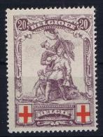 Belgium:   OBP Nr 128 MH/* - 1914-1915 Red Cross