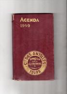 AGENDA  Compagnies Des Antilles  TOURS 1959 - Books, Magazines, Comics