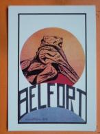 V09-90-territoire De Belfort-belfort-ville Des 3 Sieges-lion--illustration Numa-- - Belfort – Le Lion