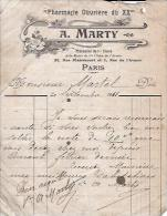 PARIS 20e - PHARMACIE A. MARTY - RUE PIXERECOURT - 1911 - France