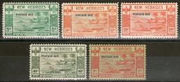 Nelles-HEBRIDES:  Taxe N°16/20 **     - Cote 245€ - - Postage Due
