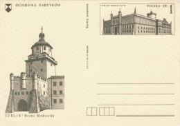 Polen - 1 Zl Ganzsache Auf Bild-Pk Lublin, Brama Krakowska - 1944-.... Republik