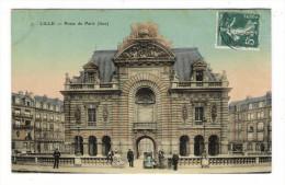 NORD  /  LILLE  /  PORTE  DE  PARIS  ( Face ) /  Edit.  E. LE DELEY  ( ELD ) /  Cpa Colorisée, Toilée Et Vernissée - Lille