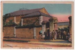 RARE Asie BEYROUTH - a facult� de m�decine fran�aise en couleur vers 1920 edition l. ferid animation devant l�entree