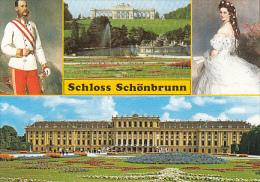 7992- VIENNA- SCHONBRUNN PALACE, , FOUNTAIN, GARDEN, SISSI EMPRESS AND FRANZ JOSEPH EMPEROR - Château De Schönbrunn