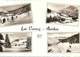 ~   74  ~   LES CARROZ - ARACHES     ~  4   VUES    .  Cp Bien Sympa Et Pas Chère  . - Francia