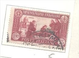 ITALIA.1931.VII, CENT ANTINIANO.-DA CT.75..-USATO.LINGUELLATO -V - Usati
