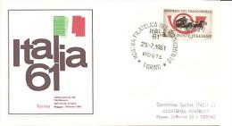 ITALIA - I961 TORINO Mostra Filatelica Del Risorgimento - Geschiedenis