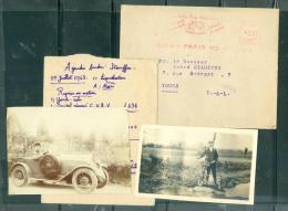 Dans Une Enveloppe Voyagée En 1948 , 2 Photos Du Docteur André Stauffer, 1926 Et 1936 - Lot65 - Identified Persons