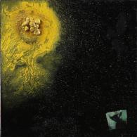 """X ALIENO (ALESSANDRO MANTOVANI) (n. 1968) """"A1"""" 2013 MIXED MEDIA ON CANVAS 40X40X3,5 - Olii"""