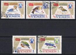 K689 FAUNA VOGELS BIRDS OISEAUX VÖGEL AVES KINGDOM OF YEMEN 1965 Gebr / Used - Oiseaux