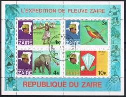K698 FAUNA VOGELS BIRDS OISEAUX VÖGEL AVES OLIFANT ELEPHANT EXPEDITION ZAIRE 1979 Gebr / Used - Oiseaux
