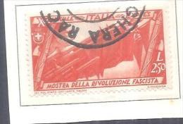 ITALIA.1932..-DA L..2,50.MOSTRA DELLA RIVOLUZIONE FASCISTE-USATO.LINGUELLATO ,V - Usati