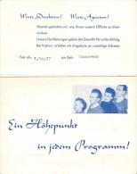4 MARTONIS CABARETT AKROBATIN AKROBAT MANEGE CIRQUE CIRCUS ACROBATE ENVOI HUBERT DE MALAFOSSE IMPRESARIO MONACO - Programme