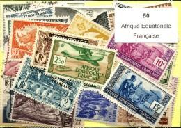 50 Timbres Afrique Equatorial Francaise - Non Classés