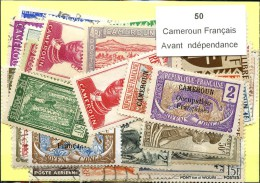 50 Timbres Cameroun Francais Avant Indépendance - France (former Colonies & Protectorates)