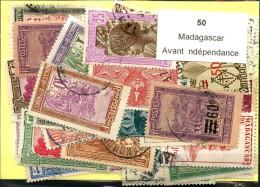 50 Timbres Madagascar Avant Independance - Non Classés