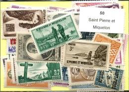 50 Timbres Saint Pierre Et Miquelon - France (former Colonies & Protectorates)