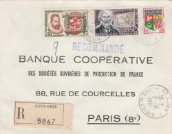 Recommandée DeSt Omer  Pas De Calais    Georges Melies- Jean Nicot Et Blason D'Alger - Marcophilie (Lettres)