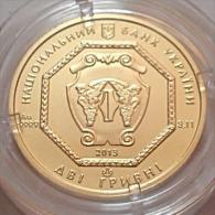 Ukraine 2 Hryvni Archangel Michael 1/10 Oz 9999 Pure Gold Coin New - Ukraine