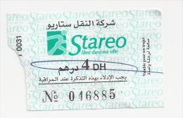 Ticket de Bus Maroc. (Voir commentaires)