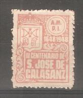 Viñeta De Centenario De S. Jose De Calasanz. - España