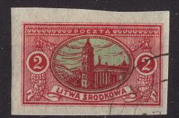 Lithuania 1921, Republic of Central Lithuania (Litwa srodkowa) used