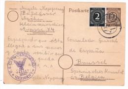 1946, US Civil Censorship - Deutsche Postcard - See Scans - Militaria