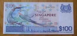 SINGAPORE  100 Dollars 1976 BEE EATER A - UNC BIRD SERIES - Singapour