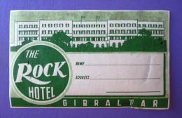 HOTEL RESIDENCIA PENSION HOSTAL GIBRALTAR ENGLAND ROCK SPAIN LUGGAGE LABEL ETIQUETTE AUFKLEBER DECAL STICKER MADRID