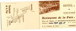 CARTE HOTEL  77 BOURRON- MARLOTTE