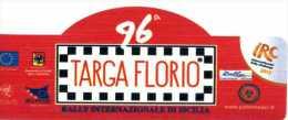 X Adesivo Stiker Etiqueta 96 TARGA FLORIO IRC RALLY CM. 6 X 13 - Non Classificati