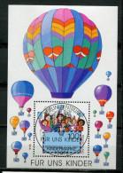 "Germany  1997 Michel Nr.1933 Block 40 ""Für Uns Kinder,Heißluftballons ""1 Block Used,gestp. - Montgolfières"