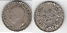 **** BULGARIE - BULGARIA - 50 LEVA 1930 BORIS III - ARGENT - SILVER **** EN ACHAT IMMEDIAT - Bulgaria