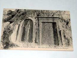 carte postale ancienne : LIBAN : Le NAHR el KELB : Bas-relief persan et inscription de Rhamses