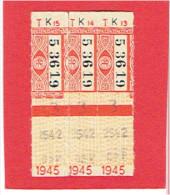 BILLET DE TRANSPORT 1945 RESEAU ROUTIER