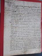 Rare 16 Mars 1806 Manuscrit Document Parchemin Historique Lettre De Gensac Libourne/Brefaire Juillac / Moncaret Dordogne - Documenti Storici