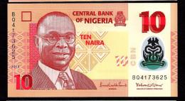 NIGERIA  :  10 Naira 2013  - POLYMER - UNC - Nigeria